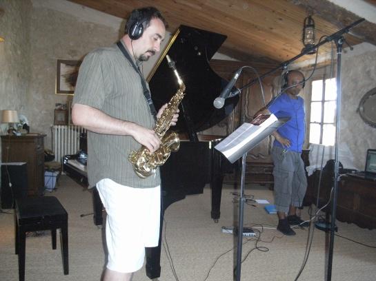 Jean-Luc, frère de Nadine au saxophone